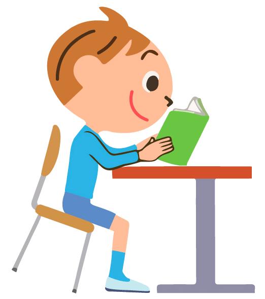 Школьник ребенок качается на стуле