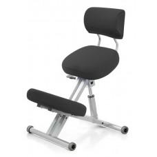 KM01B без чехла. Металлический коленный стул со спинкой (с газлифтом)
