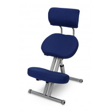 KM01B с чехлом. Металлический коленный стул со спинкой