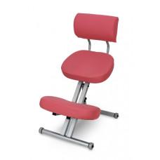 KM01BМ с чехлом. Металлический коленный стул со спинкой